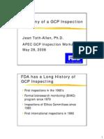 Anatomy GCP Insp TothAllen FDA USA