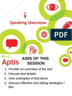 Apt is 20 Speaking 20 Overview