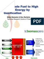 Low Grade Fuel to High Quality Energy by Gasification