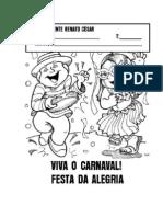 Desenho Pessoas Pulando Carnaval