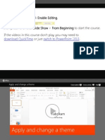 PowerPoint ApplyAndChangeATheme