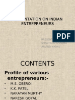 Presentation on Indian Entrepreneurs