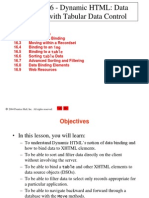 Dynamic HTML Data Binding With Tabular Data Control