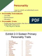 Exhibit 2-3 Sixteen Primary Personality Traits