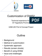Customisation of DHIS2_prof of Concept Project