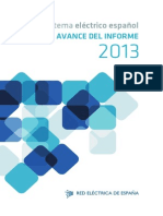 Avance Informe Sistema Electrico 2013
