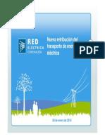 Nueva redistribución del transporte de energía eléctrica 09 Enero 2014