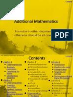 Additional Mathematics Revision