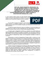 Moción IU-PSOE relativa a la Memoria Histórica y por el reconocimiento de las víctimas de la Guerra Civil