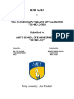 cloud computing and visualization technologies