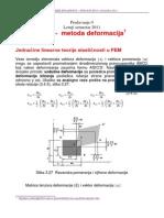 Predavanje-5-6 2011 Deformaciona Metoda