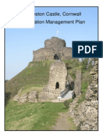 Conservation Management Plan for Launceston Castle, Cornwall, UK.