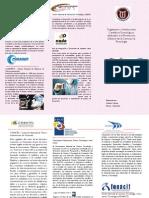 Triptico sobre los Organismos dedicados a la Promoción  y Difusión de la Ciencia y la Tecnología.