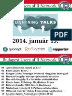 R Lightning Talks @ BURN (2014-01-15)