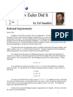 How Euler Did It 53 Rational Triangles