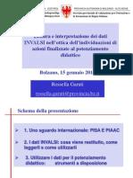 Panoramica sulle rilevazioni PIAAC e PISA. Lettura e interpretazione dei dati INVALSI nell'ottica dell'individuazioni di azioni finalizzate al potenziamento didattico