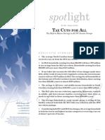 Spotlight 449 Tax Cuts for All