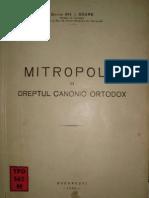 Gh. Soare - Mitropolia in Dreptul Canonic Ortodox