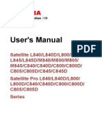 Toshiba Satellite C800D User Manual