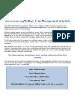 8-Hour Day College TM Schedule