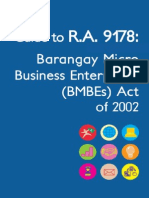 Guide to Barangay Microbusiness Enterprise