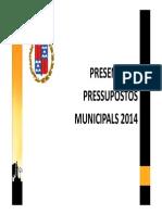 Presentació pressupostos 2014 · Ajuntament de Berga