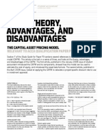 Advantages and Disadvantages of Capital ASset Pricing Model