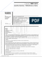 NBR 13273 - Referências a itens