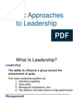 8 -Basic Approaches to Leadership organisational behaviour