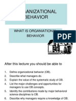 1 -Introduction to Ob organisational behaviour