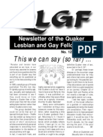 Newsletter of the Quaker Lesbian and Gay Fellowship