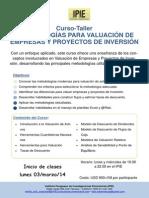 Curso-Taller Valuacion (Flyer)