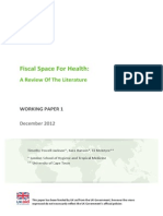 Fiscal space for health