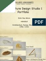 Design Studio 1 (ARC 1116)