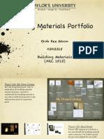 Building Materials (ARC 1513)