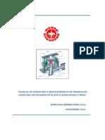 Manual de Mantenimiento y Operacion de Mejora de Chancado Secundario_RevC
