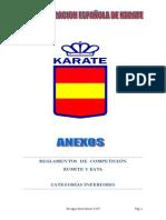 RFEK Reglamento categorias inferiores 2014