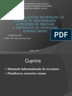 Influenţa  calităţii  informaţiei  ca resursă  în