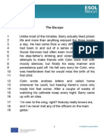 The Escape.transcript(18 Font