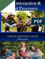 Social Interaction and Social Processes