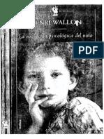 HENRI  WALLON La evolución psicológica del niño