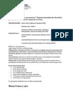 Jornadas del cuadrado y otras geometrías. Primeras Jornadas de Identidad política y territorios en la ciudad de La Plata.