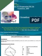 Presentación N°10 PSU De  Geometría - Circurferencia y Circulo