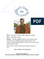 Benefit Dinner for Dave Johnson