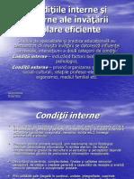3c  Condi+úiile interne +ƒi externe ale +«nv-â+ú-ârii +ƒcolare eficiente