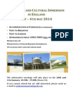 Linguistic and Cultural Immersion in England