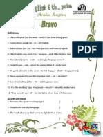 English Final revision Bravo! 6th primary