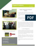Kapap Academy Singapore Newsletter (January 2014)