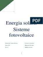 Istoria Energiei Solare .Celule Fotovoltaice