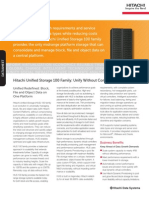 Hitachi Unified Storage Datasheet